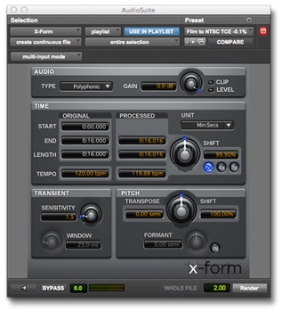 Avid X-Form Plug-in image 1