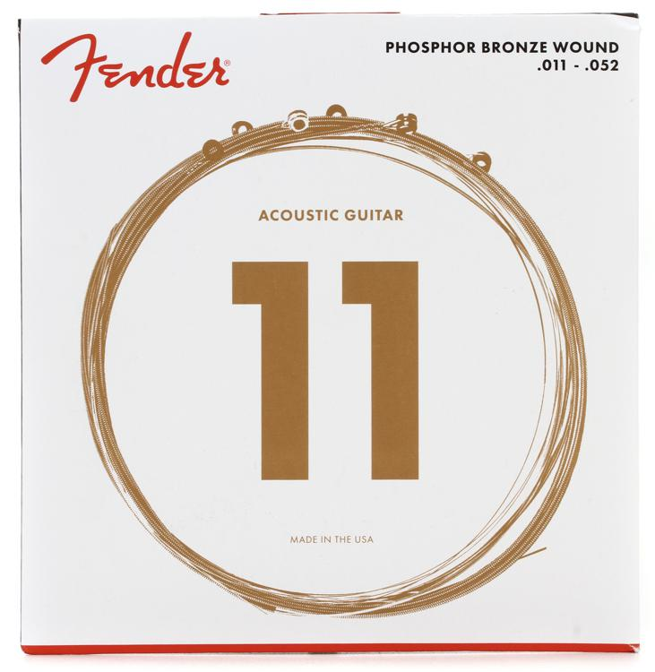 Fender 60CL Phosphor Bronze Custom Light Acoustic Strings image 1