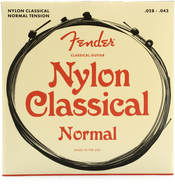 Fender Accessories 130 Clear Nylon Ball End Medium Classical Strings image 1