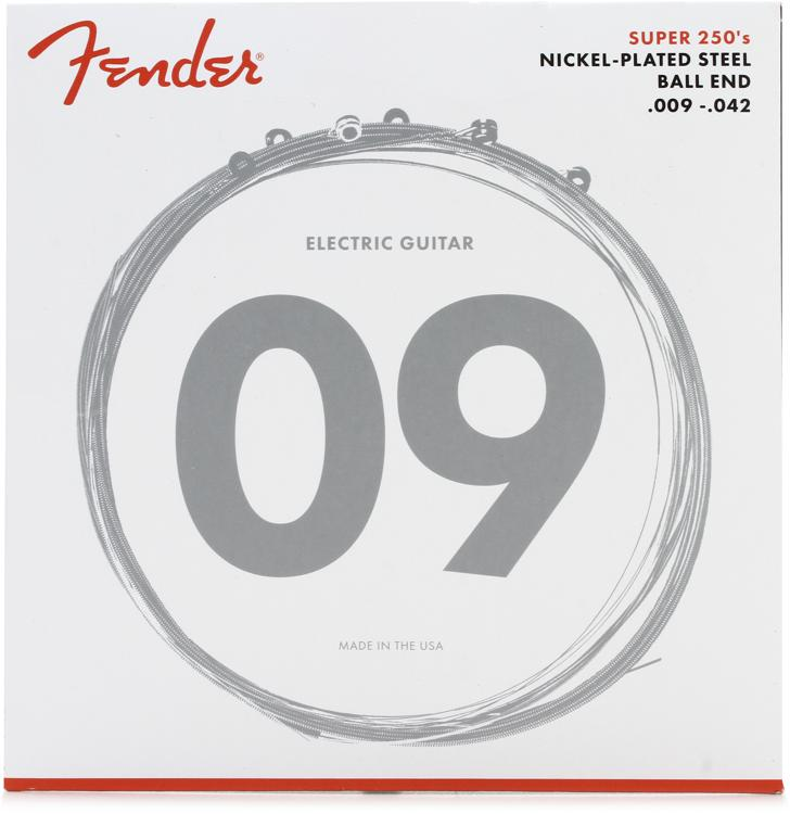 Fender Accessories Super 250L Nickel-Plated Steel Light Electric Strings image 1