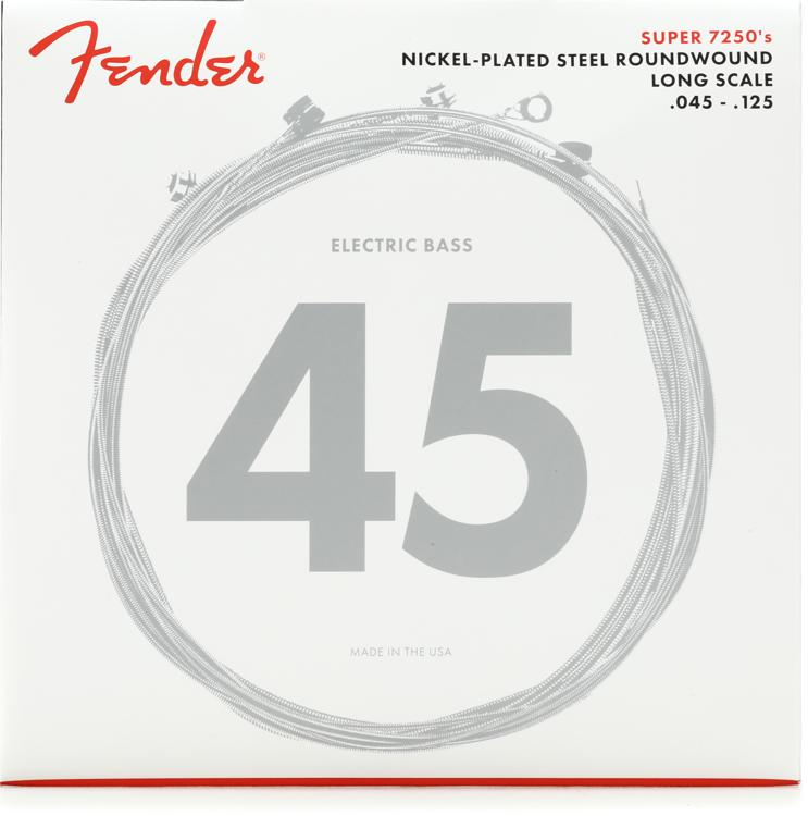 Fender 72505M Nickel Plated Steel Long Scale Medium 5-String Bass Strings image 1