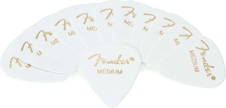 Fender Accessories 351 Shape Classic Celluloid Picks - Medium White - 12-Pack image 1