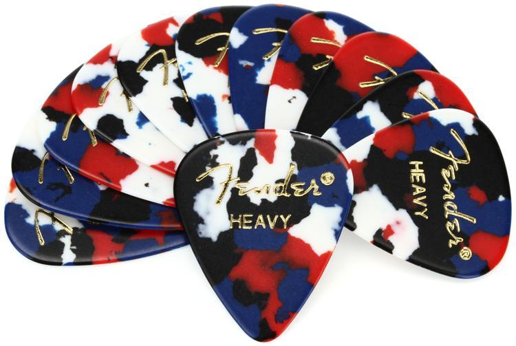 Fender Accessories 351 Shape Classic Celluloid Picks - Heavy Confetti - 12-Pack image 1