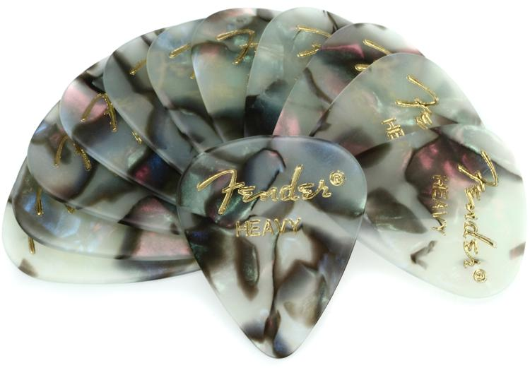 Fender 351 Shape Premium Celluloid Picks - Heavy Abalone - 12-Pack image 1