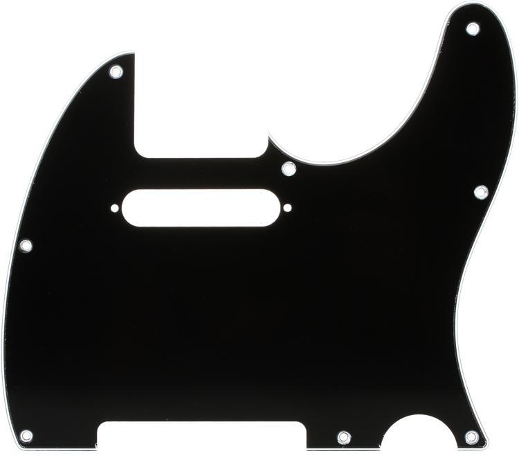 Fender Standard Telecaster Pickguard - Black 8-Hole image 1