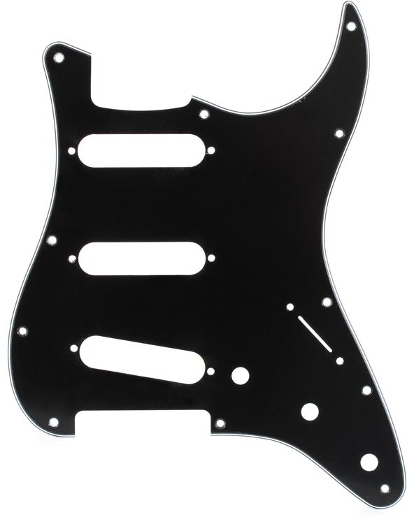 Fender Accessories Standard Stratocaster Pickguard - Black image 1
