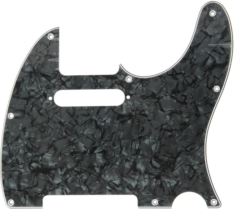 Fender Standard Telecaster Pickguard - Black Pearloid 8-Hole image 1