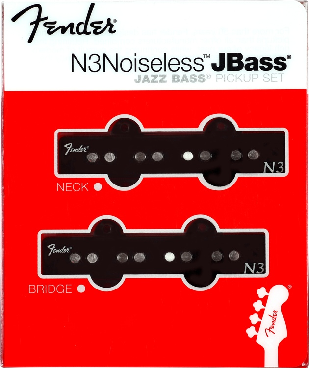 Fender N3 Noiseless J Bass Noiseless Jazz Bass Pickup 2-piece Set image 1