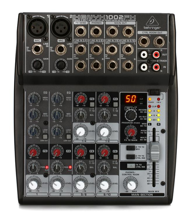 Behringer Xenyx 1002FX Mixer with Effects image 1