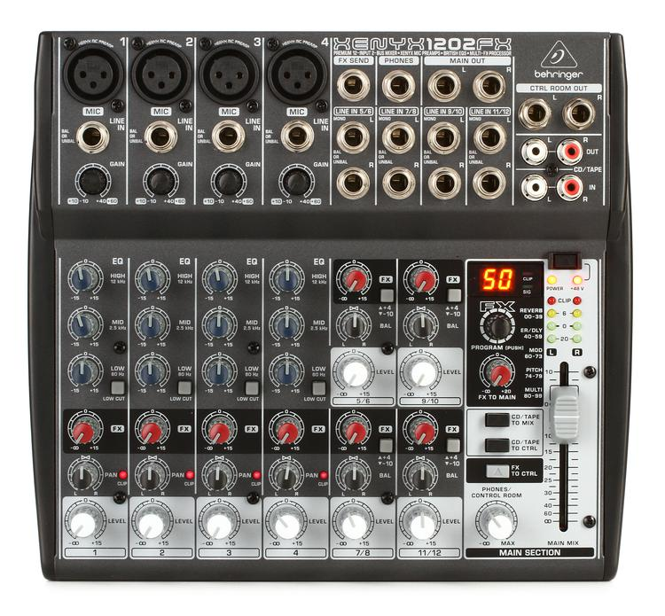 behringer xenyx 1202fx mixer with effects sweetwater. Black Bedroom Furniture Sets. Home Design Ideas