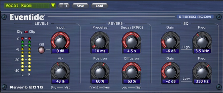 Eventide 2016 Stereo Room Reverb Plug-in image 1