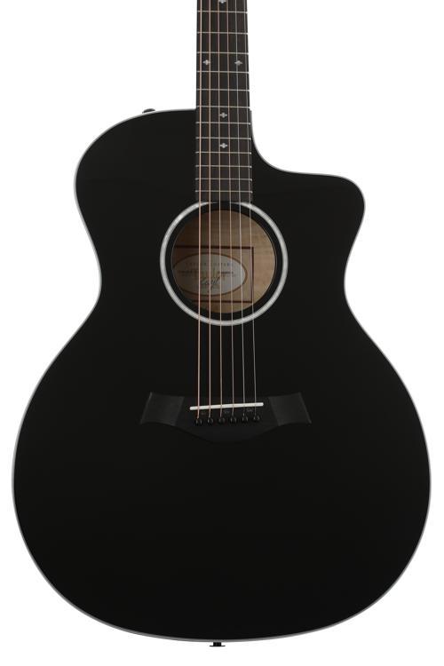 Taylor 214ce DLX - Black, Layered Sapele back and sides image 1