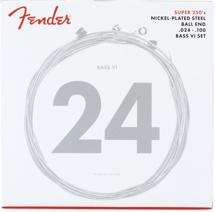 Fender Accessories Super 250B6 Nickel Plated Steel Bass VI Electric Strings image 1