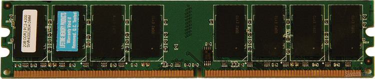 Top Tier PC2-4200 DDR2 DIMM - 2 GB image 1