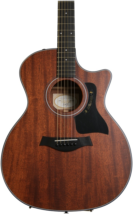 Taylor 324ce Mahogany Top Grand Auditorium Acoustic Electric - with Cutaway image 1