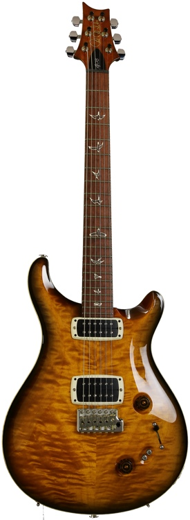 PRS 408 Quilted Maple Top with Rosewood Fretboard - Amber Black image 1