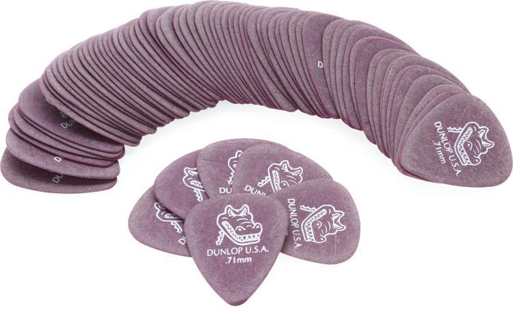 Dunlop 417R.71 Gator Grip .71mm Purple Guitar Picks 72-Pack image 1
