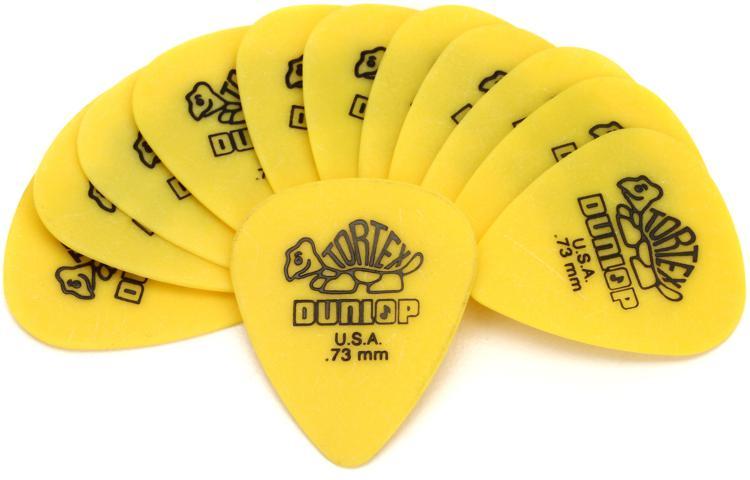 Dunlop 418P.73 Tortex Standard .73mm Yellow Guitar Picks 12-Pack image 1