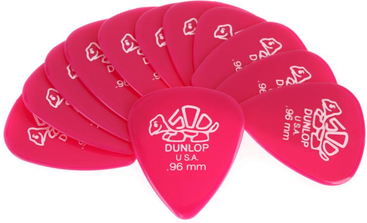 Dunlop 41P.96 Delrin 500 .96mm Dark Pink 12-Pack image 1