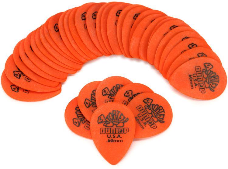 Dunlop 423R.60 Tortex Small Tear Drop .60mm Orange Guitar Picks 36-Pack image 1