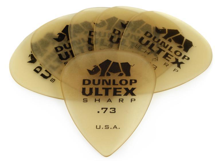 Dunlop 433P.73 Ultex Sharp .73mm Guitar Picks 6-Pack image 1