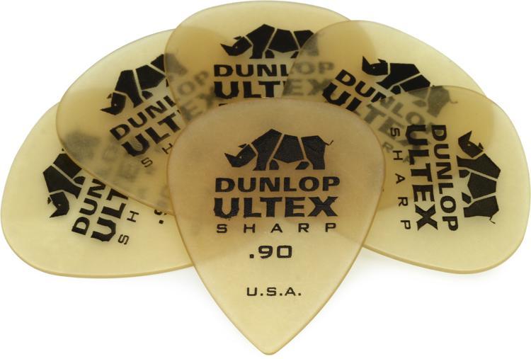 Dunlop 433P.90 Ultex Sharp .90mm Guitar Picks 6-Pack image 1