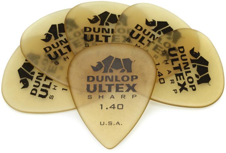 Dunlop 433P1.40 Ultex Sharp 1.4mm Guitar Picks 6-Pack image 1