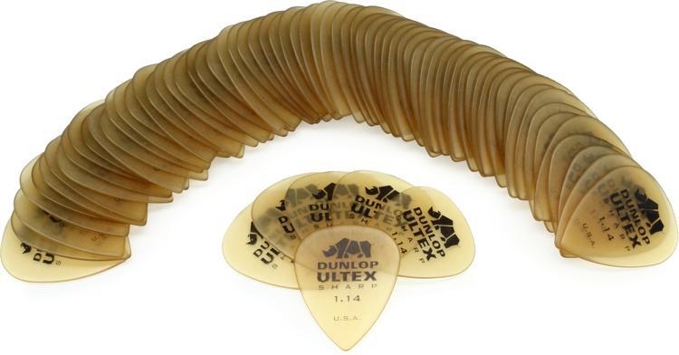 Dunlop 433R1.14 Ultex Sharp 1.14mm Guitar Picks 72-Pack image 1