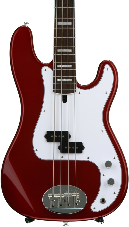 Lakland Skyline 44-64 Custom - Candy Apple Red, Rosewood image 1