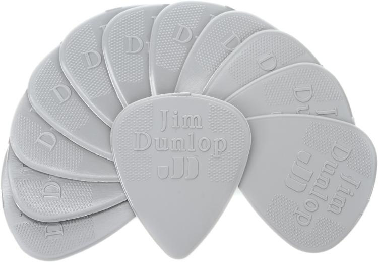 Dunlop 44P.60 Nylon Standard .60mm Light Grey Guitar Picks 12-Pack image 1
