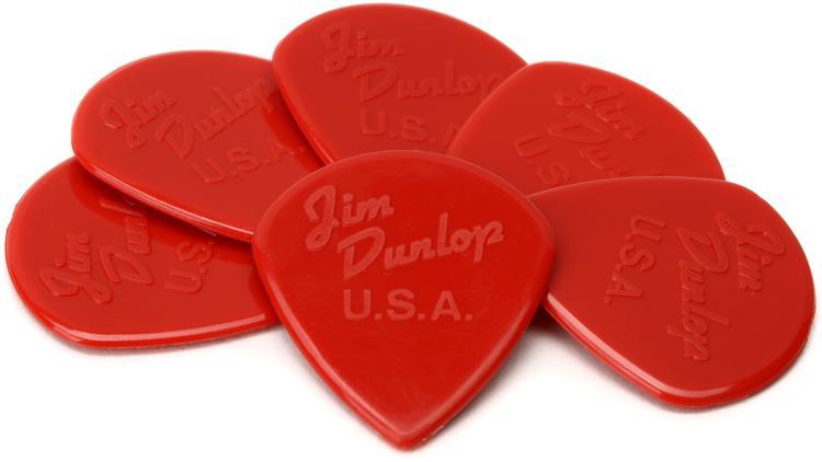Dunlop 47P3N Nylon Jazz III Red Point Tip Guitar Picks 6-Pack image 1