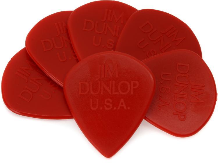 Dunlop 47PEJ3N Eric Johnson Nylon Jazz III Red Nylon 6-Pack image 1