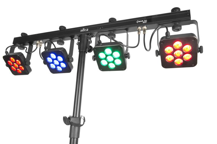 Chauvet DJ 4BAR Tri USB 4 x RGB Par System w/ Stand image 1