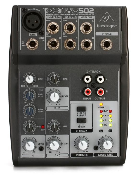 behringer xenyx 502 mixer sweetwater. Black Bedroom Furniture Sets. Home Design Ideas