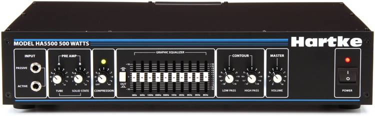Hartke 5500C 500-Watt Tube Preamp Bass Head image 1