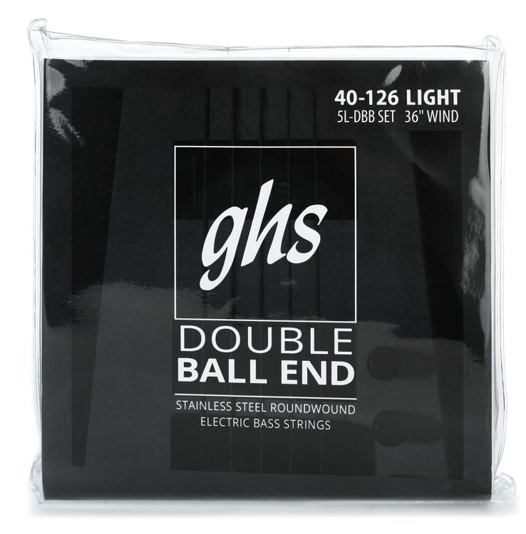 GHS 5l-DBB Double Ball End Roundwound Light Electric Bass Strings - 5-String image 1