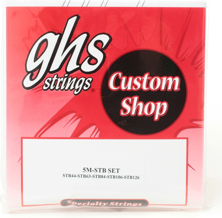 GHS Super Steel Extra Long Scale Bass Strings - Medium 5-String .044-.126 image 1