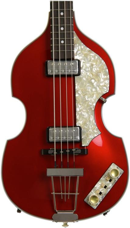 Hofner \'62 Custom Shop Violin Bass, Sweetwater Custom - Candy Apple Red image 1