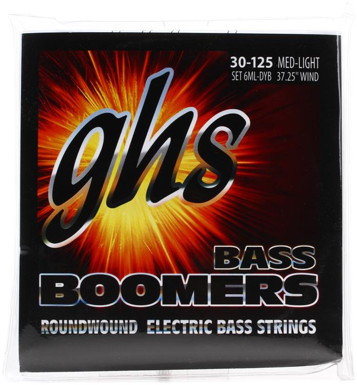 GHS 6ML-DYB Bass Boomers Roundwound Long Scale Medium Electric Bass Strings - 6-String image 1