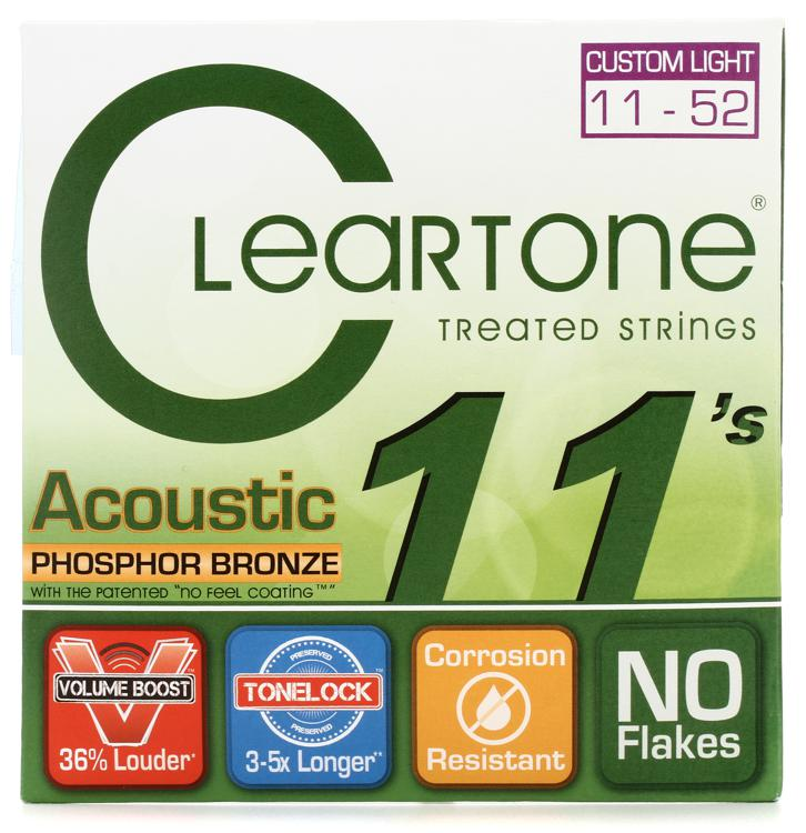 Cleartone 7411 EMP Phosphor Bronze Acoustic Guitar Strings - .011-.052 Custom Light image 1