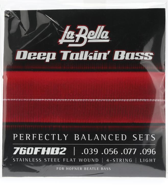 La Bella 760FHB2 Beatle Bass Flatwound Bass Strings - Light image 1