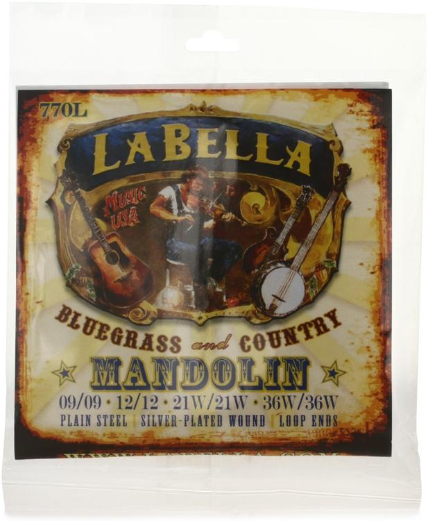 La Bella 770L Silver-plated Mandolin Strings - Light image 1