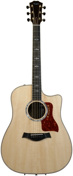 Taylor 810ce Dreadnought - Natural, Cutaway image 1