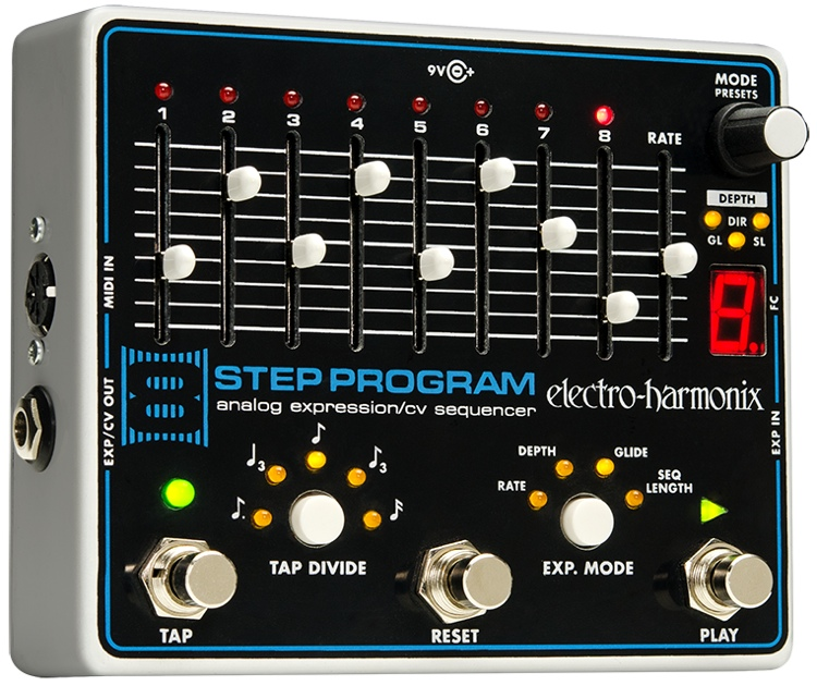 Electro-Harmonix 8 Step Program Analog Expression / CV Sequencer Pedal image 1
