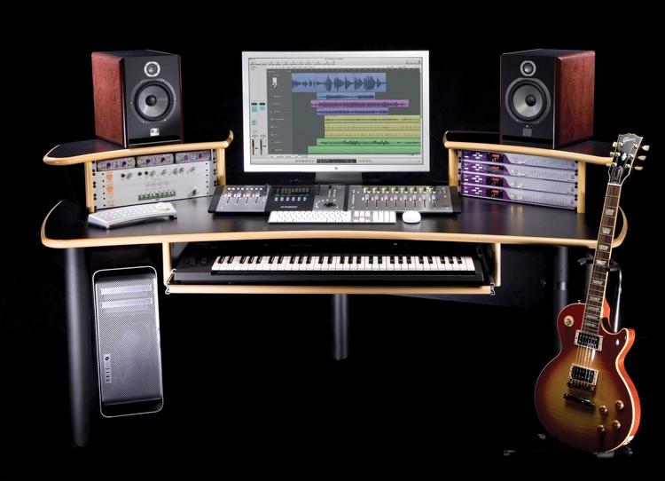 KK Audio A1 Edit Desk - Black w/ Lite Edge image 1