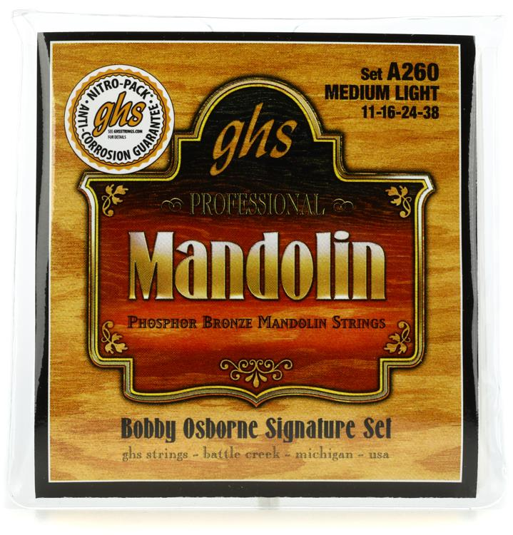 GHS A260 Phosphor Bronze Mandolin Strings - .011-.038 image 1