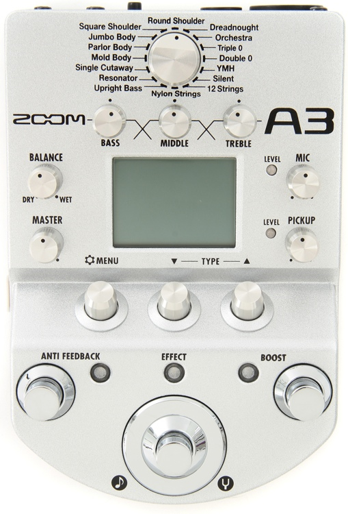 Zoom A3 Acoustic Guitar Preamp and Effects Processor image 1