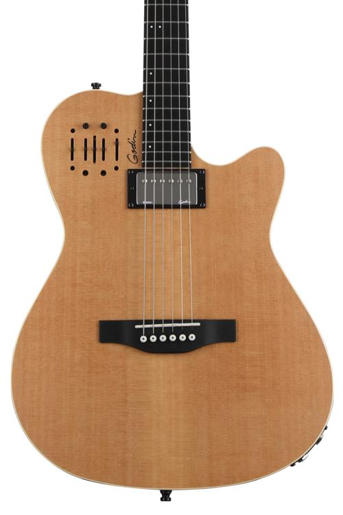 Godin A6 Ultra Acoustic Electric - Natural Semi-Gloss image 1