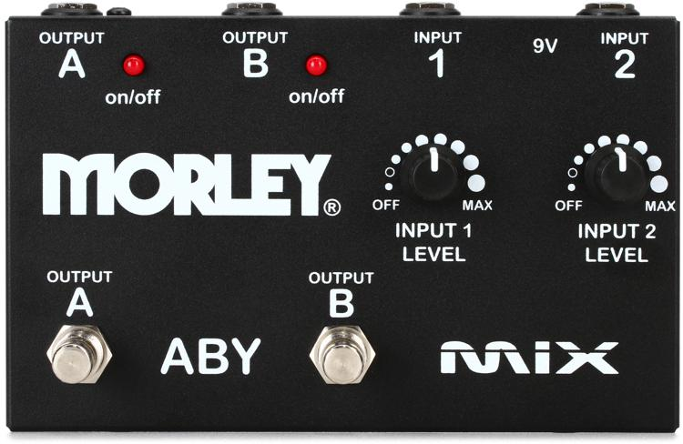 Morley ABY MIX 2-Button Signal Combiner Pedal image 1