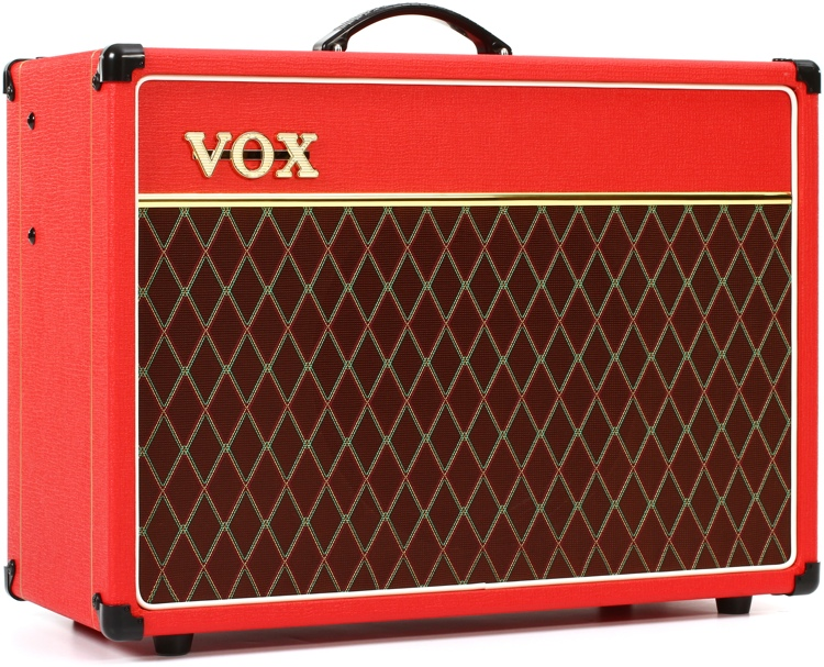 vox limited edition ac15 custom 1x12 15 watt combo red tolex. Black Bedroom Furniture Sets. Home Design Ideas